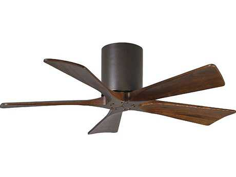 Matthews Fan Company Irene-H Textured Bronze & Walnut Tone 42'' Wide Five-Blade Indoor Ceiling Fan