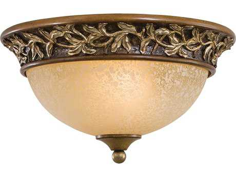 Minka Lavery Salon Grand Florentine Patina 13'' Wide Two-Light Flush Mount Light