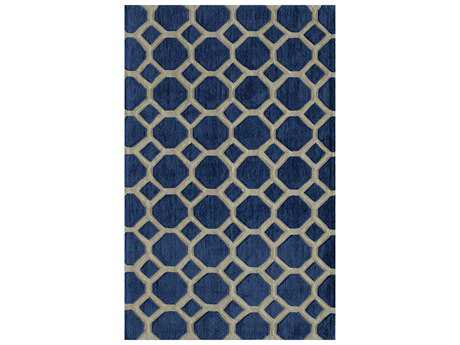 Momeni Bliss Modern Blue Hand Made Synthetic Geometric 2' x 3' Area Rug - BLISSBS-11NVY2030