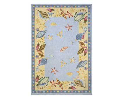 Momeni Coastal Novelty Blue Hand Made Cotton Graphic 2' x 3' Area Rug - COASTCC-04LBL2030