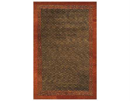 Momeni Desert Gabbeh Traditional Brown Hand Made Wool Solid 2' x 3' Area Rug - DEGABDG-01BRN2030