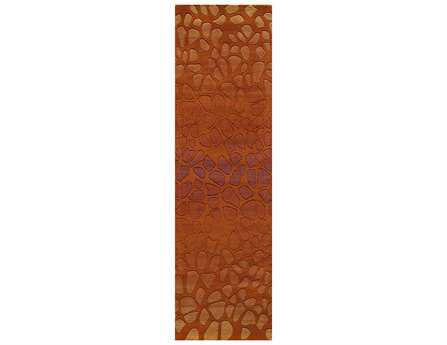 Momeni Delhi Modern Red Hand Made Wool Abstract Area Rug- DELHIDL-33PAP-RUN