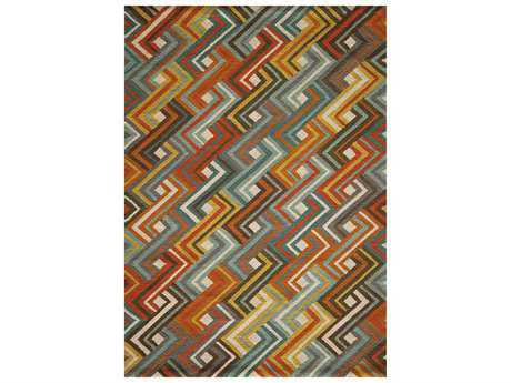 Momeni Geo Modern Orange Hand Made Wool Geometric 2' x 3' Area Rug - GEO00GEO-8MTI2030