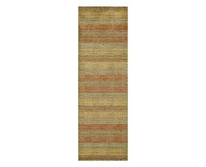 Momeni Gramercy Modern Beige Hand Made Wool Stripes Area Rug- GRAMEGM-06MTI-RUN