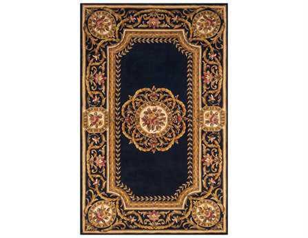 Momeni Harmony Traditional Blue Hand Made Wool Floral/Botanical 2' x 3' Area Rug - HARMOHA-12BLU2030