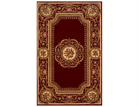 Momeni Harmony Traditional Red Hand Made Wool Floral/Botanical 2' x 3' Area Rug - HARMOHA-12BUR2030