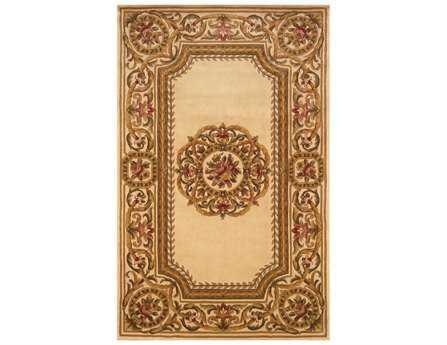 Momeni Harmony Traditional Beige Hand Made Wool Floral/Botanical 2' x 3' Area Rug - HARMOHA-12IVY2030