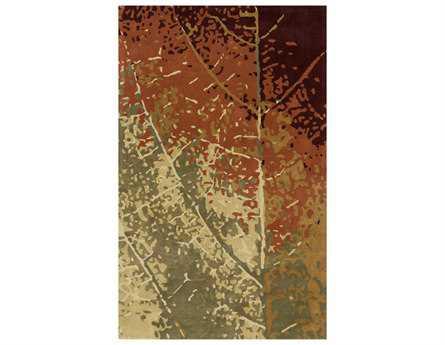 Momeni Impressions Transitional Brown Hand Made Wool Floral/Botanical 2' x 3' Area Rug - IMPREIP-02LEF2030