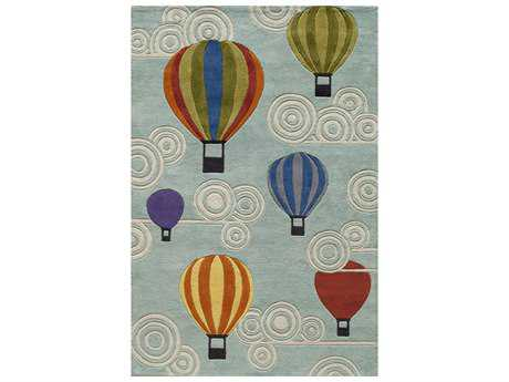 Momeni Lil Mo Whimsy Kids Teal Hand Made Synthetic Graphic 2' x 3' Area Rug - LMOJULMJ20MTI2030