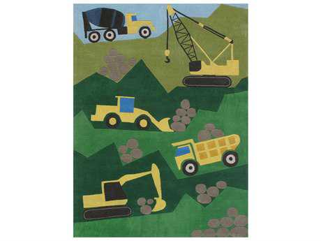 Momeni Lil Mo Whimsy Kids Green Hand Made Synthetic Graphic 2' x 3' Area Rug - LMOJULMJ24GRN2030