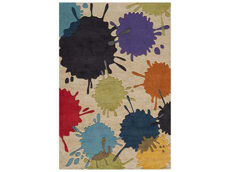 Momeni Lil Mo Hipster Kids Beige Hand Made Synthetic Abstract 2' x 3' Area Rug - LMOTWLMT-9IVY2030