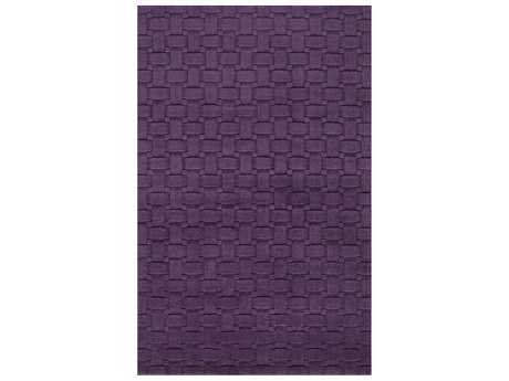 Momeni Metro Modern Purple Hand Made Wool Geometric 2'3