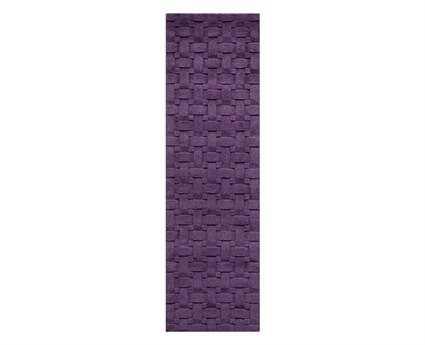 Momeni Metro Modern Purple Hand Made Wool Geometric Area Rug- METROMT-21PLM-RUN