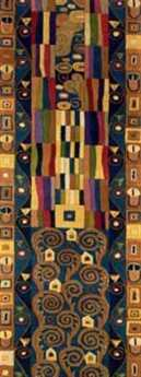 Momeni New Wave Transitional Blue Hand Made Wool Abstract 2'6'' x 8' Area Rug - NEWWANW-02BLU2680