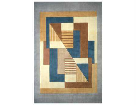Momeni New Wave Transitional Blue Hand Made Wool Abstract 2' x 3' Area Rug - NEWWANW-06BLU2030