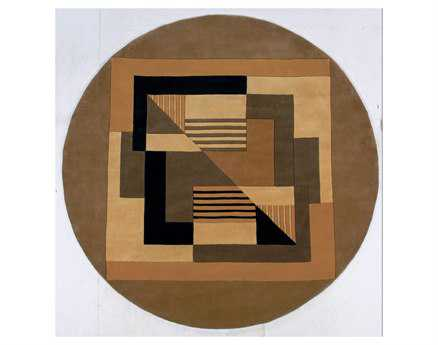 Momeni New Wave Transitional Yellow Hand Made Wool Abstract Area Rug - NEWWANW-06GLD790R