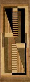 Momeni New Wave Transitional Yellow Hand Made Wool Abstract 2'6'' x 8' Area Rug - NEWWANW-06GLD2680