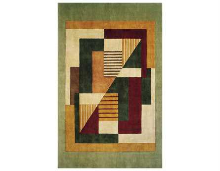 Momeni New Wave Transitional Green Hand Made Wool Abstract 2' x 3' Area Rug - NEWWANW-06MTI2030