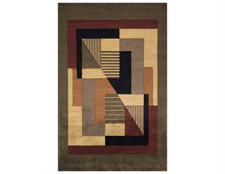 Momeni New Wave Transitional Red Hand Made Wool Abstract 2' x 3' Area Rug - NEWWANW-06POM2030