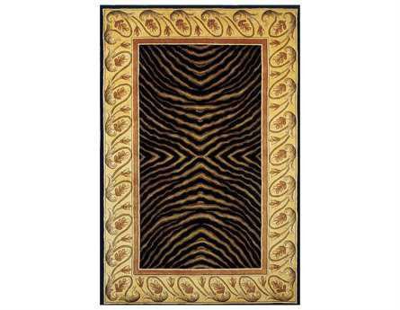 Momeni New Wave Traditional Black Hand Made Wool Abstract 2' x 3' Area Rug - NEWWANW-09BLK2030