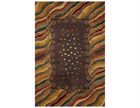 Momeni New Wave Traditional Purple Hand Made Wool Abstract 2' x 3' Area Rug - NEWWANW-12PUR2030