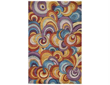 Momeni New Wave Transitional Purple Hand Made Wool Abstract 2' x 3' Area Rug - NEWWANW131MTI2030