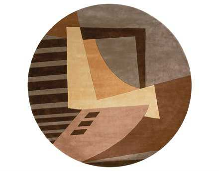 Momeni New Wave Transitional Brown Hand Made Wool Graphic Area Rug - NEWWANW-22LBN790R