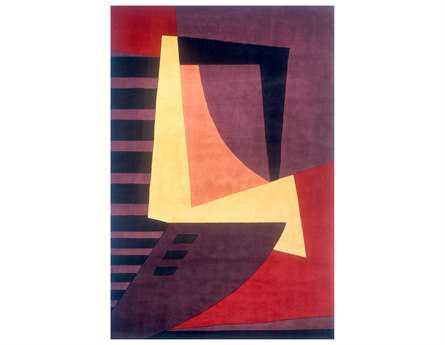 Momeni New Wave Transitional Purple Hand Made Wool Abstract 2' x 3' Area Rug - NEWWANW-22PLM2030