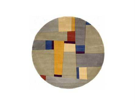 Momeni New Wave Transitional Gray Hand Made Wool Abstract Area Rug - NEWWANW-23GRY790R