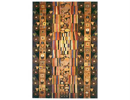 Momeni New Wave Transitional Black Hand Made Wool Abstract 2' x 3' Area Rug - NEWWANW-33BLK2030
