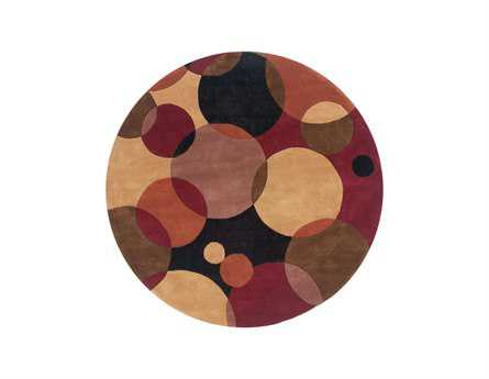 Momeni New Wave Transitional Black Hand Made Wool Graphic Area Rug - NEWWANW-37BLK790R