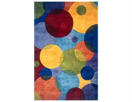 Momeni New Wave Transitional Blue Hand Made Wool Geometric 2' x 3' Area Rug - NEWWANW-37MTI2030
