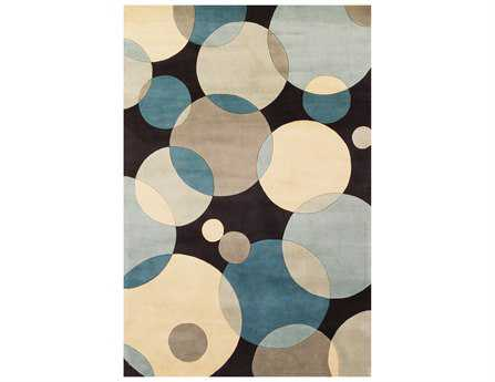 Momeni New Wave Transitional Teal Hand Made Wool Geometric 2' x 3' Area Rug - NEWWANW-37TEL2030