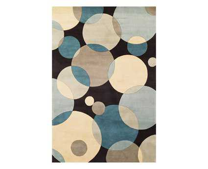 Momeni New Wave Transitional Teal Hand Made Wool Graphic 2'6'' x 8' Area Rug - NEWWANW-37TEL2680