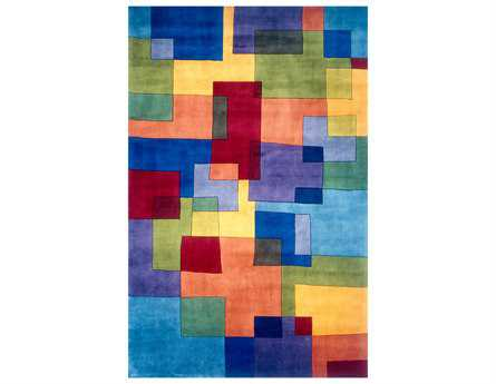 Momeni New Wave Transitional Blue Hand Made Wool Abstract 2' x 3' Area Rug - NEWWANW-49MTI2030