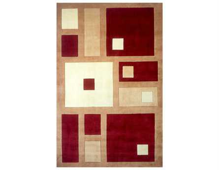 Momeni New Wave Transitional Red Hand Made Wool Abstract 2' x 3' Area Rug - NEWWANW-50RED2030