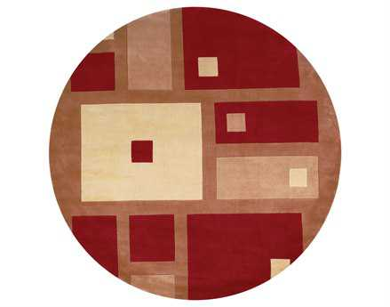 Momeni New Wave Transitional Red Hand Made Wool Graphic Area Rug - NEWWANW-50RED790R