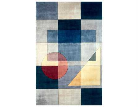 Momeni New Wave Transitional Blue Hand Made Wool Abstract 2' x 3' Area Rug - NEWWANW-54BLU2030