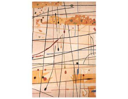 Momeni New Wave Transitional Beige Hand Made Wool Abstract 2' x 3' Area Rug - NEWWANW-58BGE2030