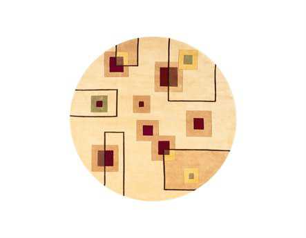 Momeni New Wave Transitional Beige Hand Made Wool Abstract Area Rug - NEWWANW-77IVY790R