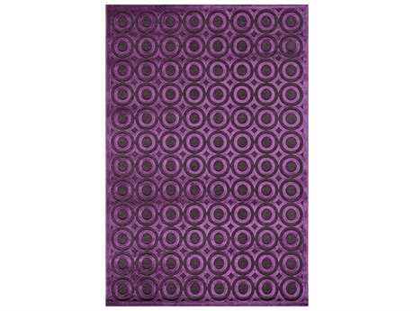 Momeni Platinum Modern Purple Machine Made Synthetic Geometric 2' x 3' Area Rug - PLATIPN-03AUB2030