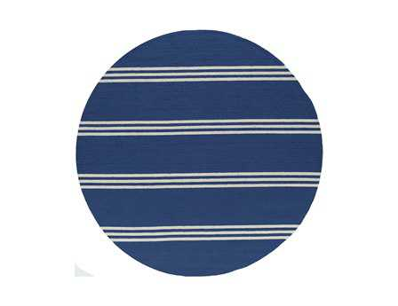 Momeni Veranda Transitional Blue Hand Made Synthetic Stripes Area Rug- VERANVR-16MTB-ROU