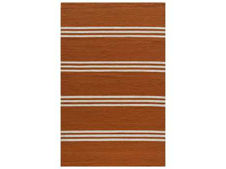 Momeni Veranda Transitional Orange Hand Made Synthetic Stripes 2' x 3' Area Rug - VERANVR-16TGR2030