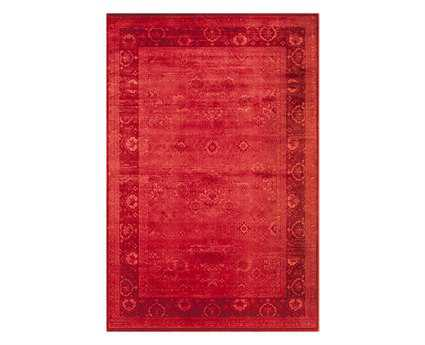 Momeni Vogue Transitional Red Machine Made Synthetic Floral/Botanical 1'8