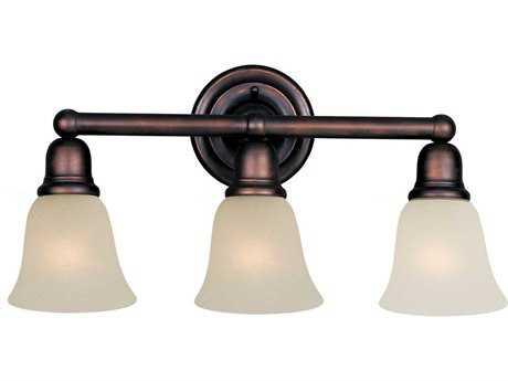 Maxim Lighting Bel Air Oil Rubbed Bronze & Soft Vanilla Glass Three-Light Vanity Light