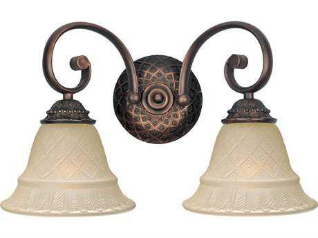 Maxim Lighting Brighton Oil Rubbed Bronze Two-Light Vanity Light