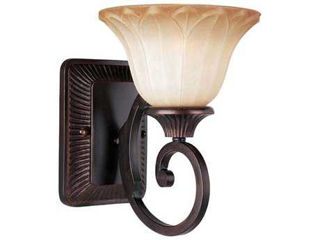 Maxim Lighting Allentown Oil Rubbed Bronze & Wilshire Glass Wall Sconce