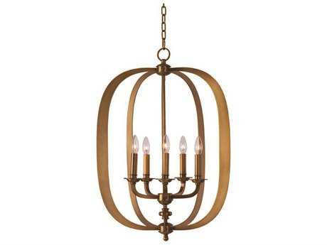 Maxim Lighting Fairmont Natural Aged Brass Five-Light 22'' Wide Pendant Light