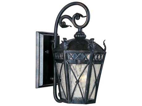 Maxim Lighting Canterbury Artesian Bronze & Seedy Glass 8'' Wide Outdoor Wall Light