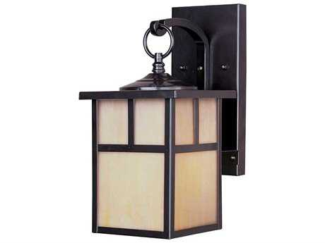 Maxim Lighting Coldwater Burnished & Honey Glass 6'' Wide LED Outdoor Wall Light